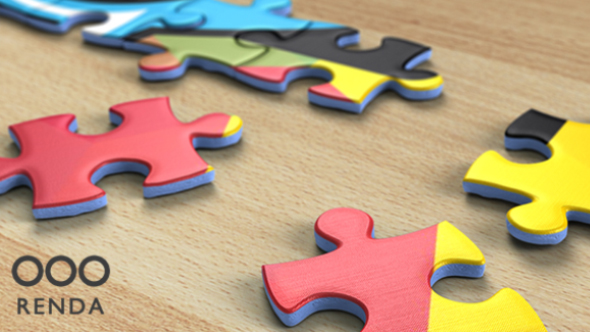 Videohive Jigsaw Puzzle Logo Reveal 18193239