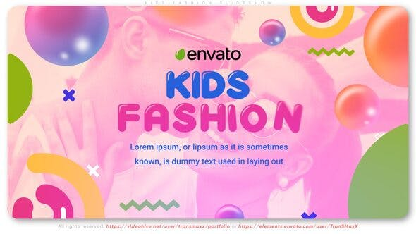 Videohive Kids Fashion Slideshow 26999551