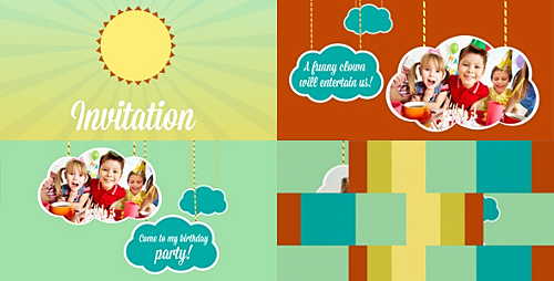 Videohive Kids Intro Clouds on Ropes 4232505