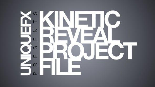 Videohive Kinetic Reveal 137834