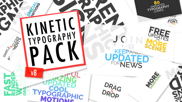 Videohive Kinetic Typographic Title Pack