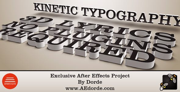 Videohive Kinetic Typography - 3D Lyrics - Two AE Projects 4409665