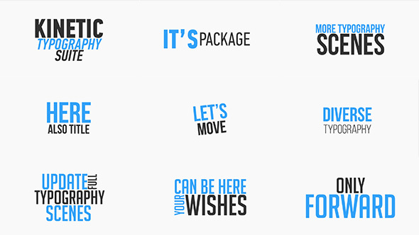 Videohive Kinetic Typography Suite