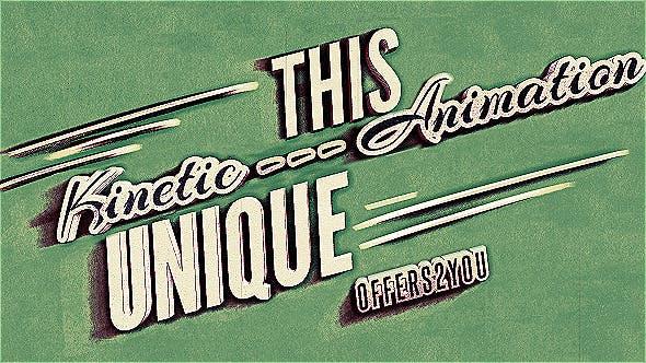 Videohive Kinetic Typography Vintage Retro Style 4799271