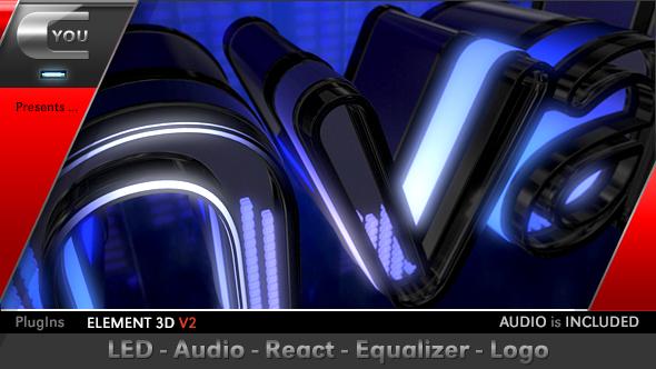 Videohive LED Audio React Equalizer Logo 17469448