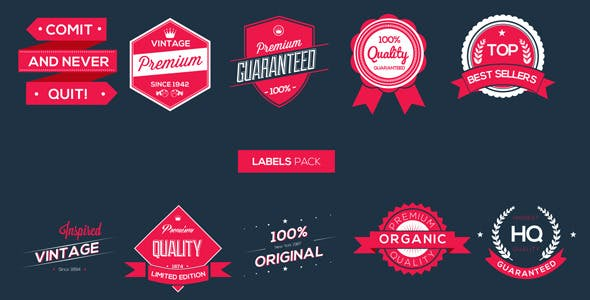 Videohive Labels Pack 5562503