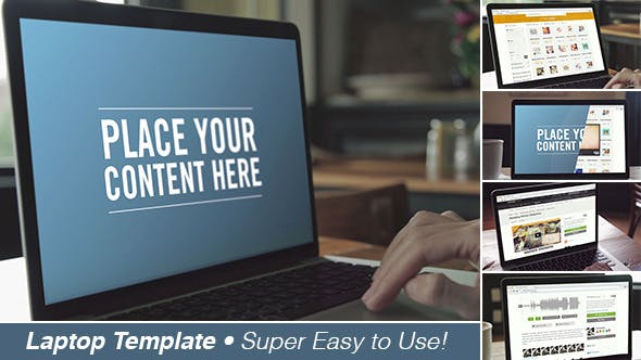 Videohive Laptop Screen Template 11608190