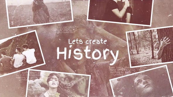 Videohive Lets Create History 21613987