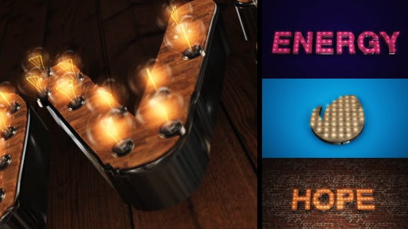 Videohive Light It Up - Light Bulb Text or Logo Reveal 6903686