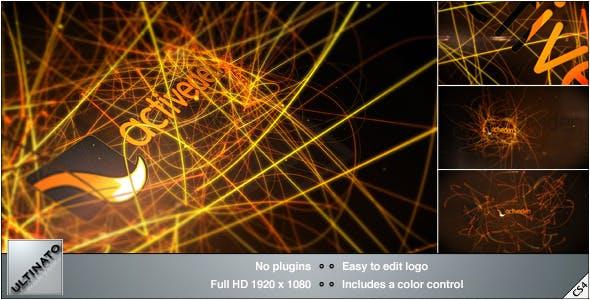 Videohive Light Streaks Logo 3591980