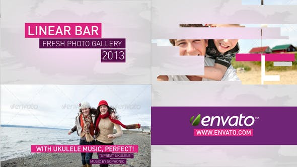 Videohive Linear Bar Slides 4311463
