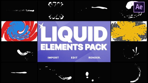 Videohive Liquid Elements And Transitions 22356287