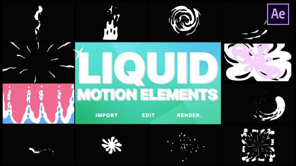 Videohive Liquid Motion Elements 21612734