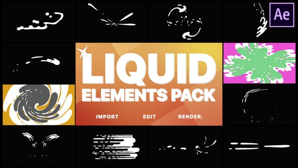 Videohive Liquid Motion Elements And Transitions 22662635