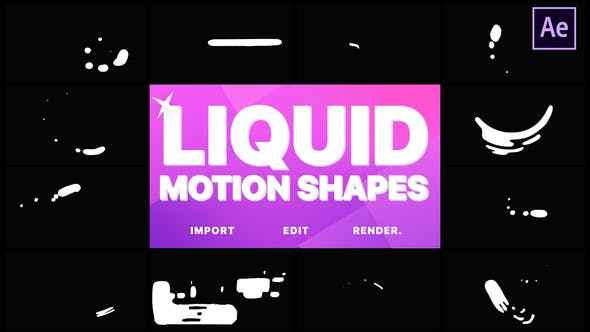 Videohive Liquid Motion Shapes 21633416