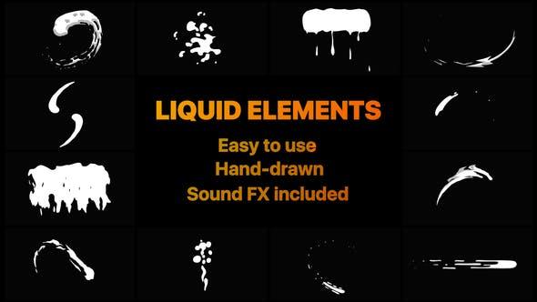 Videohive Liquid Motion Shapes 22955212
