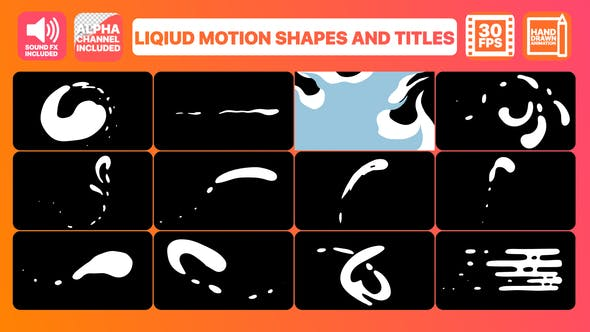 Videohive Liquid Motion Shapes And Titles 23202940
