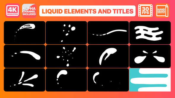 Videohive Liquid Shapes And Titles 22702061