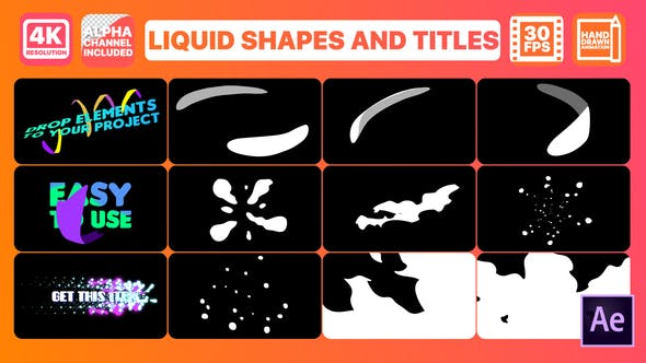 Videohive Liquid Shapes And Titles 26918120