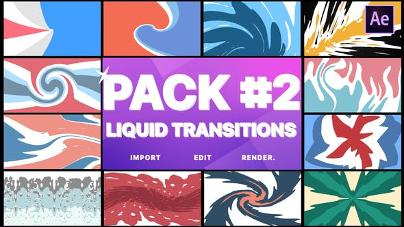 Videohive Liquid Transitions Pack 02 23279976