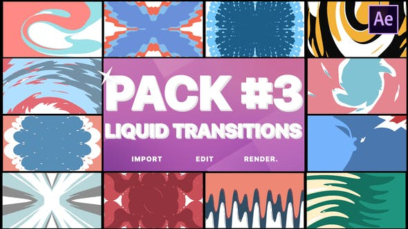 Videohive Liquid Transitions Pack 03 23374449
