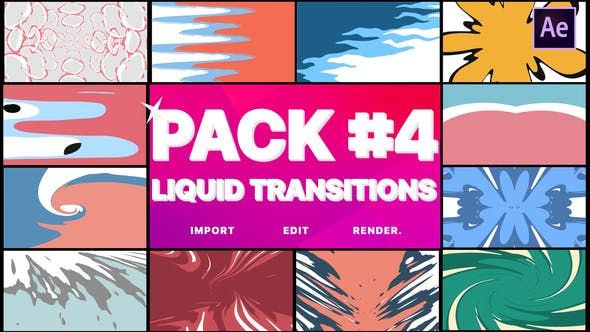 Videohive Liquid Transitions Pack 04 23378312