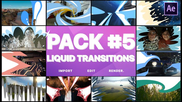 Videohive Liquid Transitions Pack 05 23442949