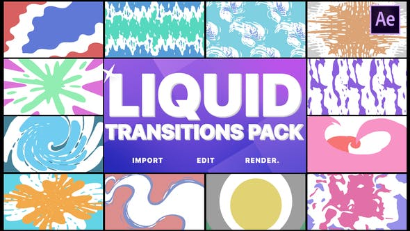 Videohive Liquid Transitions Pack 22776086