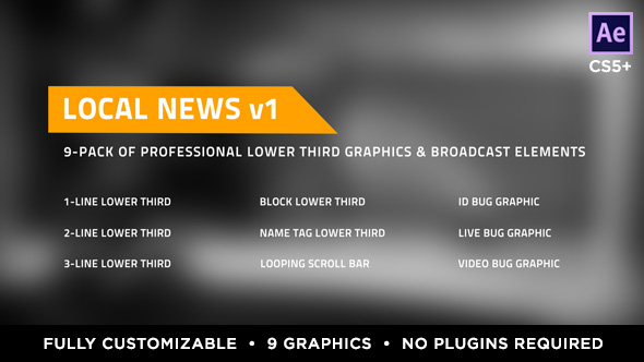 Videohive Local News Elements Lower Third Package 15860854