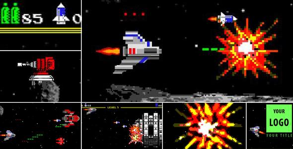 Videohive Logo Arcade Game 8 Bit15874307