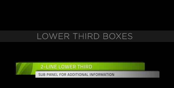 Videohive Lower Third Boxes 153158