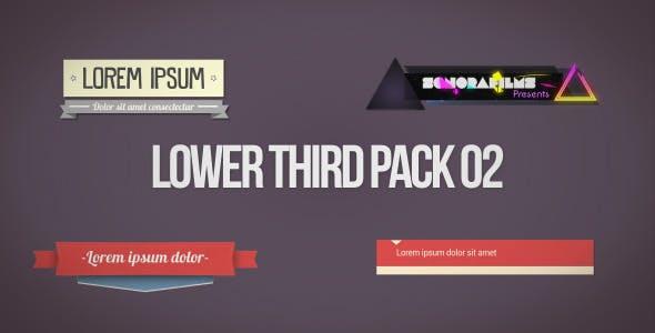 Videohive Lower Third Pack 2 7352964