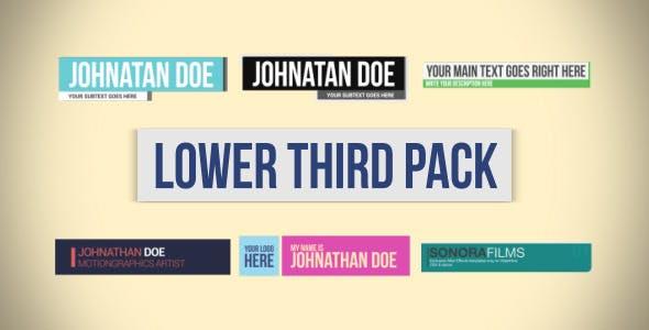 Videohive Lower Third Pack 6783381