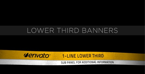 Videohive Lower Third Ribbon Banners 231556