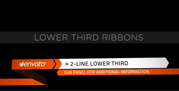 Videohive Lower Third Ribbons and Titles 153153