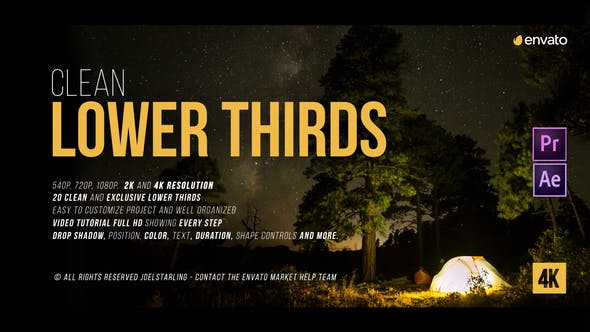 Videohive Lower Thirds 2.3 19927003