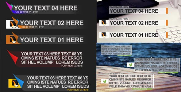 Videohive Lower Thirds 30 9516458