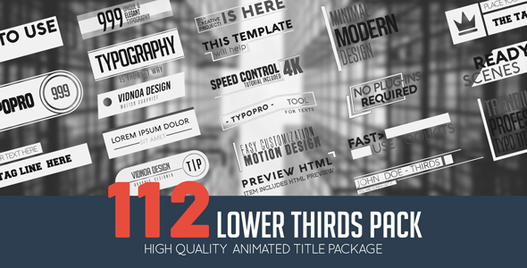 Videohive Lower Thirds Pack 21165659