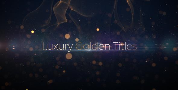 Videohive Luxury Golden Titles 19901387