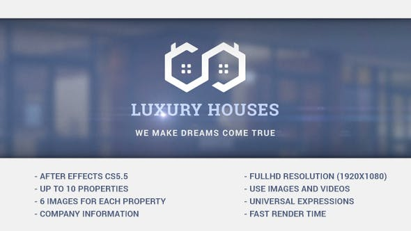 Videohive Luxury Houses - Real Estate Presentation 15479811