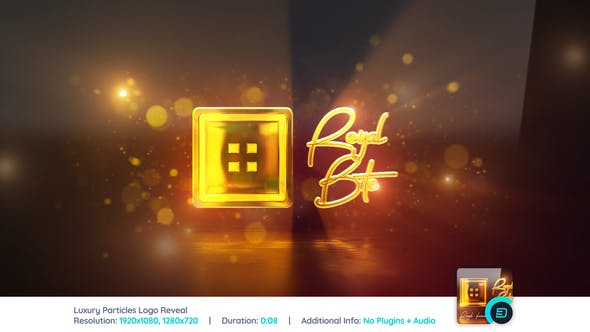 Videohive Luxury Particles Reflection Logo Reveal 22308246