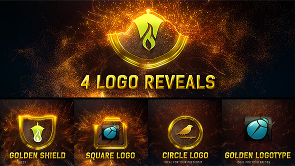Videohive Magic Gold Particles Logo Reveal