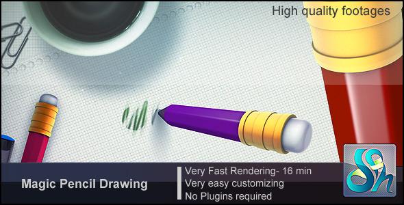 Videohive Magic Pencil Drawing 3159544
