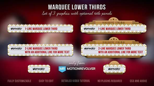 Videohive Marquee Lower Thirds 5211013