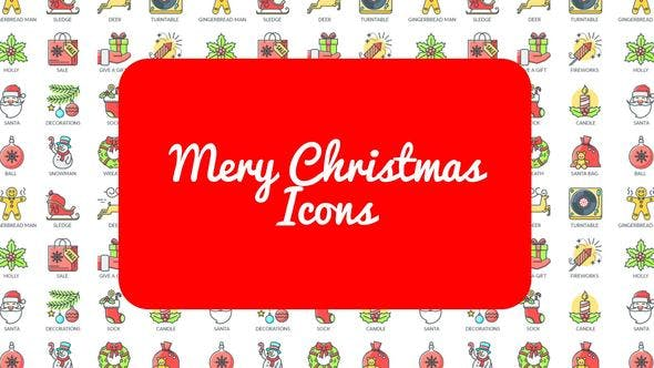 Videohive Mary Christmas - 30 Animated Icons 22866488