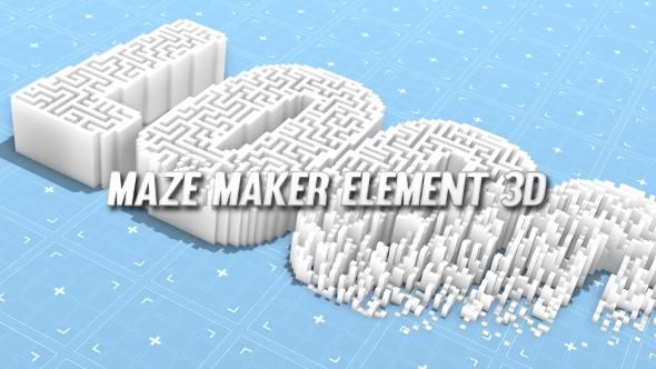 Videohive Maze Maker Element 3D 20033432