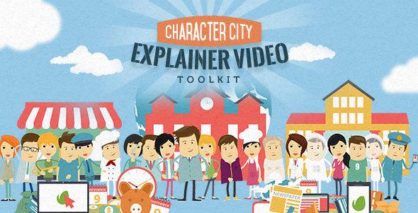 Videohive Mega Explainer toolkit  Character city 13085392