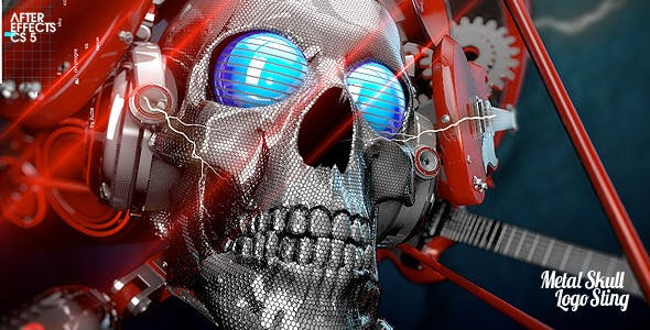 Videohive Metal Skull Head Logo Sting 2549521