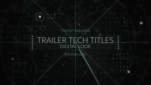 Videohive Military Radar Titles Logo 26886805