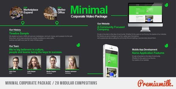 Videohive Minimal Corporate Package 7659476